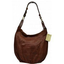 Hnědé kožené kabelky Lagia Marrone Kabelky velké
