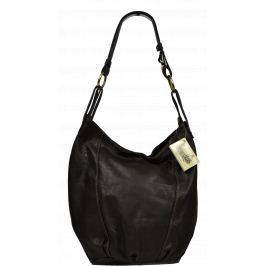 Tmavě hnědá kožená kabelka Lagia Cafe
