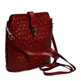 Kožená kabelka Fibbia Rossa Kabelky malé
