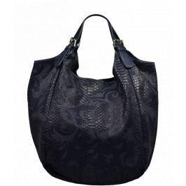 Kožená kabelka Adelaide Blu Serp