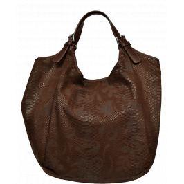 Kožená kabelka Adelaide Marrone Serp