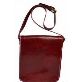 Červená kožená aktovka
