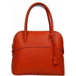 Kožená kabelka do ruky Intorna Arancione