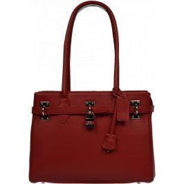 Červená kožená kabelka Azra Rossa Kabelky