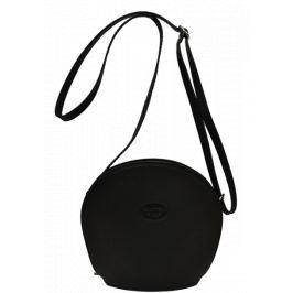 Černá kožená kabelka Pelletteria Nera