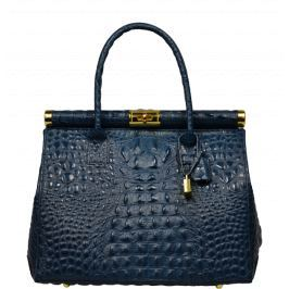Modrá kožená kabelka Laureta Blu Cocco Kabelky