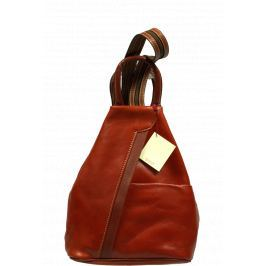 Kožený batůžek Mea Camel Marrone