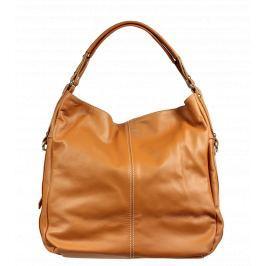 Kožené kabelky do ruky Gemma Camel 2