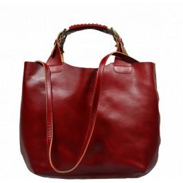 Červená kažená kabelky Elizabeth Rossa