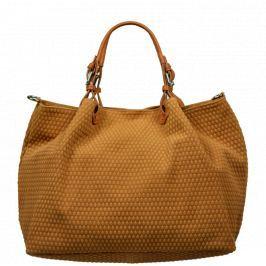 Moderní kožené kabelky do ruky Belloza Camel Kabelky
