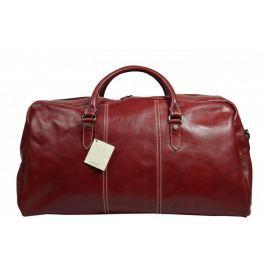 Kožená cestovní taška Brunilde Rossa