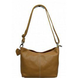 Malá kožená kabelka Batilda Camel Kabelky malé