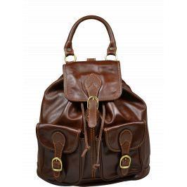 Kožený batůžek