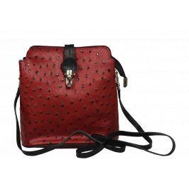 Malé červené kabelky Fibbia Rosso Nera