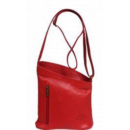 Malá červená kožená kabelka Angola Rossa 2