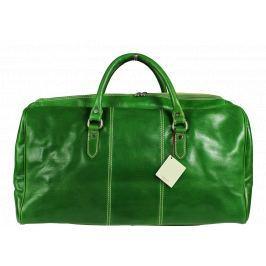 Velké kožené cestovní tašky Brunilde Verde