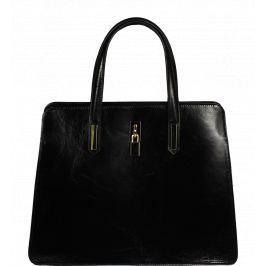 Černé kožené kabelky do ruky Mirella Nera