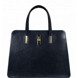 Modré kožené kabelky do ruky Mirella Blu