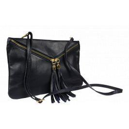 Kožená plesová kabelka Maida Blu Taschino