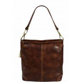 Kožená kabelka Ginevra Marrone Vecchio