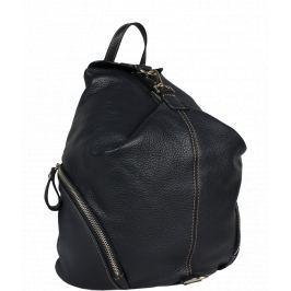 Modrý kožený batůžek Moira Blu