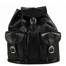 Italský kožený batůžek Alida Nera Argento