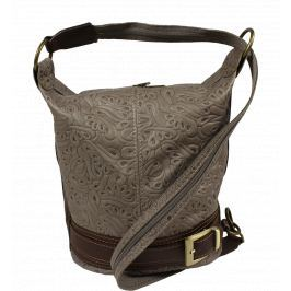 Kožená kabelka crossbody Adele Stampa Grigia