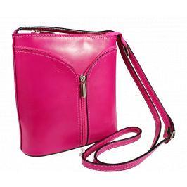Kožená kabelka z Itálie Lea Fuxia