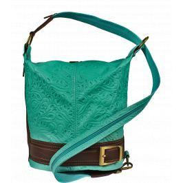 Kožená kabelka crossbody Adele Stampa Turchese