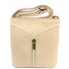 Malá kožená kabelka Lea Beige