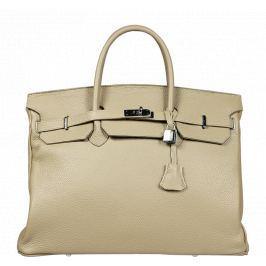 Béžové kožené kabelky Bella Nuovo Beige