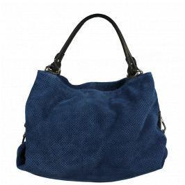 Modrá kožená kabelka do ruky Filomena Blu Nera