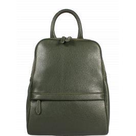 Zelený kožený batůžek Amos Nuovo Verde Scura