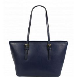 Modrá kožená kabelka Lelia Piccola Blu