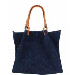 Modrá kožená kabelka Dolores Blu