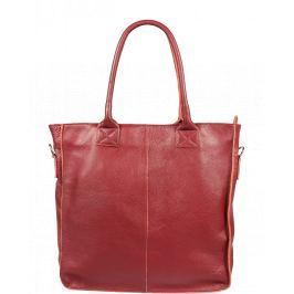 Červená kožená kabelka Pierre Cardin 1498 Prince Amaranto