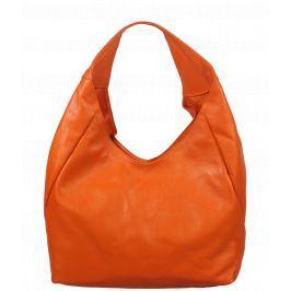 Oranžová kožená kabelka Tita Arancione Chiaro