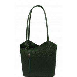 Italská kožená kabelka Clarise Cocco Verde