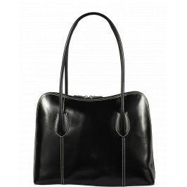 Kvalitní kožená kabelka Palagio Nera Filati Bianca