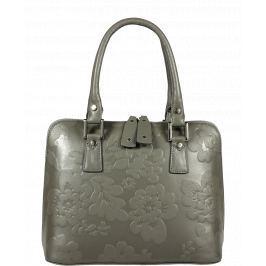 Italská kožená kabelka Stella Florita Grigia