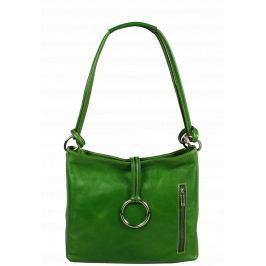 Italská kožená kabelka Veroncia Verde Argento