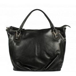 Černá kožená kabelka Gianetta Nuovo Nera