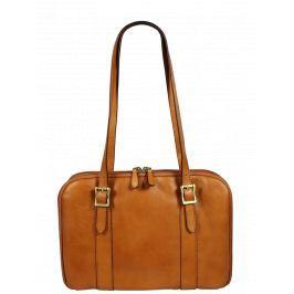 Italská kožená taška Placida Piccola Camel