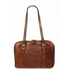 Italská kožená taška Placida Piccola Marrone