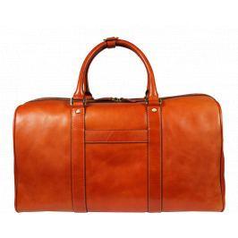 Kožená cestovní taška Egisto Camel