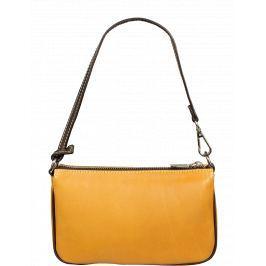 Kožená kabelka z Itálie Zoe Camel Cafe