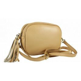 Italská kožená kabelka Bala Crema