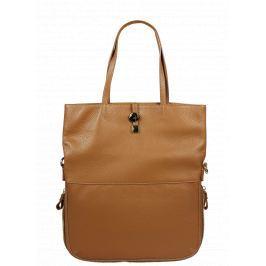 Italská kožená kabelka Luana Camel