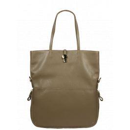 Hnědá kožená kabelka Luana Taupe