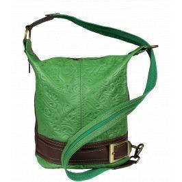 Kožená kabelka crossbody Adele Stampa Verde Secondo